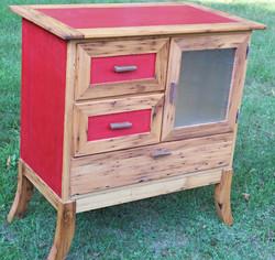 Reclaimed Chestnut & Dyed Veneer Media Cabinet