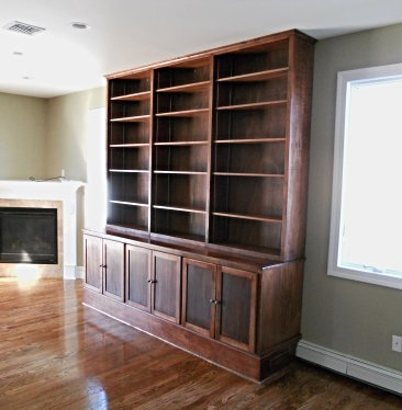 Stained Maple Bookcases