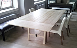 Bleached White Oak Dining Table