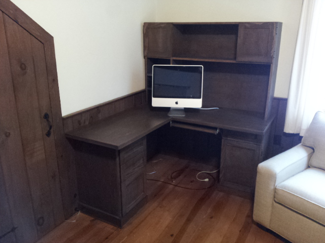 Computer Desk with Walnut Stain
