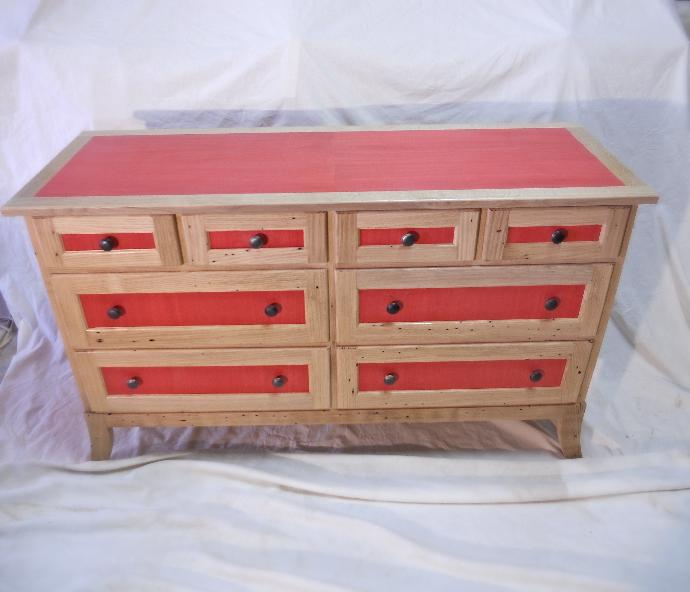 Chestnut & Dyed Veneer Dresser