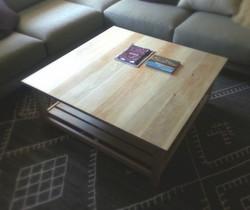 Bleached White Oak Coffee Table
