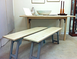 Bleached White Oak Table & Seating