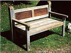Reclaimed Cedar Bench