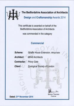 ARCH AWARDS 2014 GIRAFFES