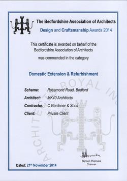 ARCH AWARDS 2014 ROSAMOND RD