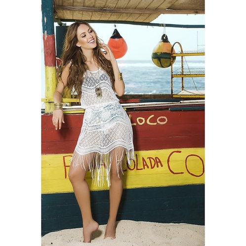 sublimez vos vacances avec cette petite robe de plage blanche MAPALE