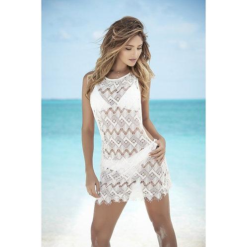 superbe robe de plage blanche pour vos vacances
