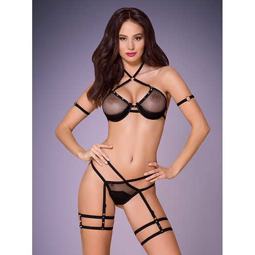 LINGERIE 2 PIECES - 858-SET-1 Noir - OBSESSIVE