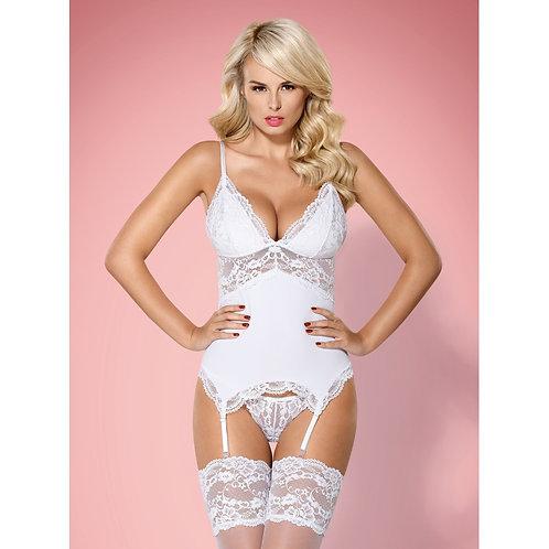 Guêpière sexy blanche pour vos soirées