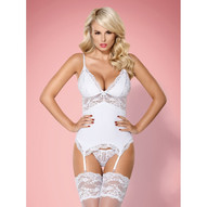 810-COR-2 Guepiere Blanche & String OBSE