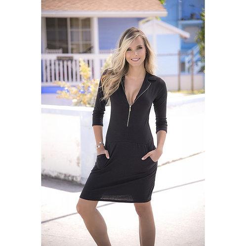 jolie robe d'été noir pour profiter du soleil