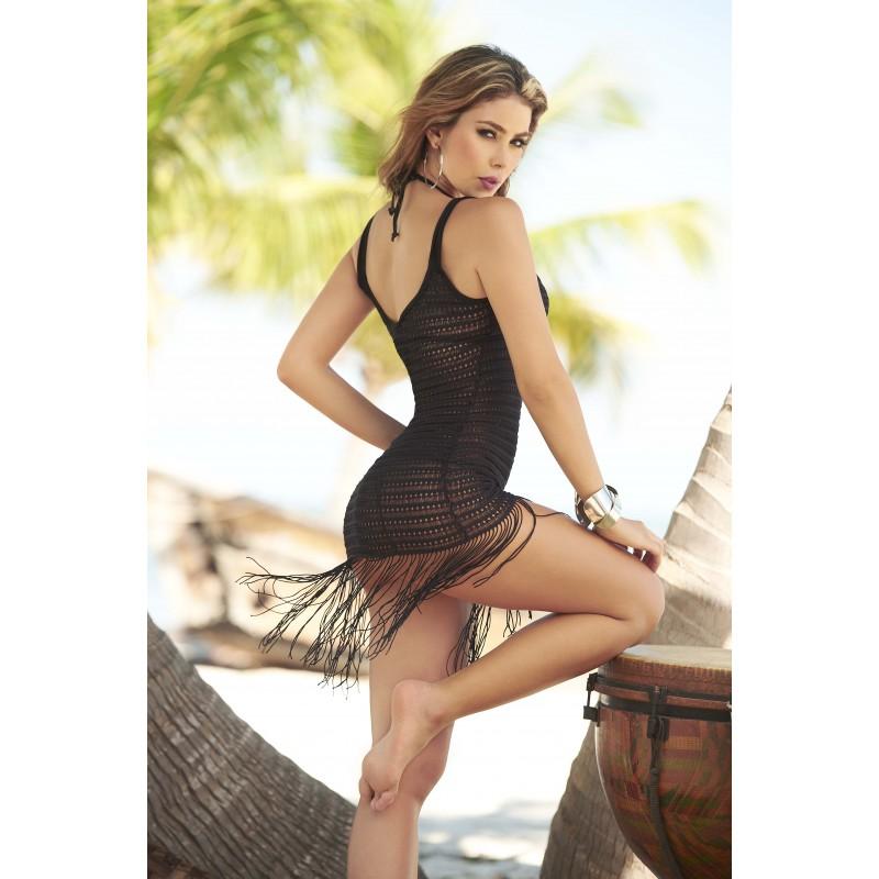 Robe de plage Style 7702 Noir MAPALE 2