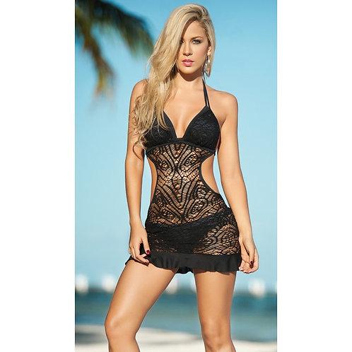 jolie robe noir pour la plage