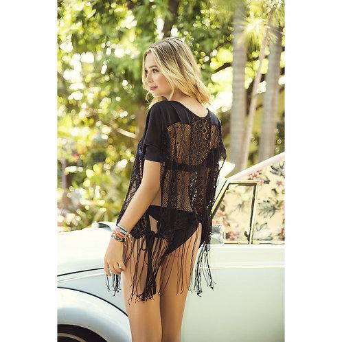 sublimez vos vacances avec cette petite robe de plage noir MAPALE
