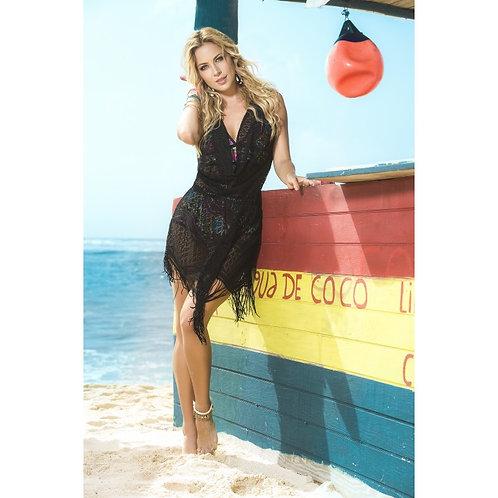 superbe robe de plage noir pour la plage