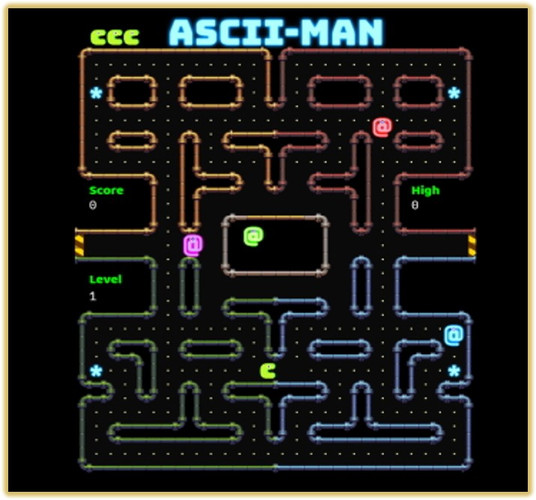 AscII Man.