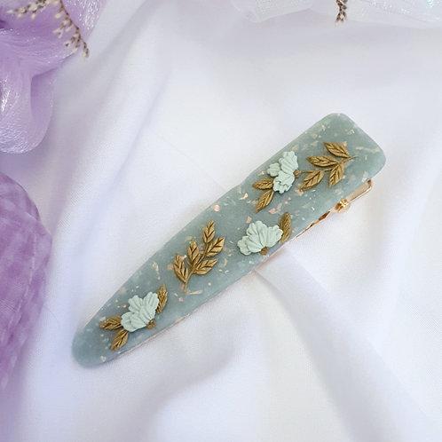 Jade Florets Barrette 002