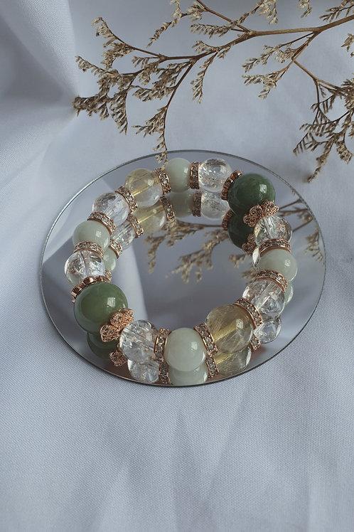 Jade Florets Bracelet 002