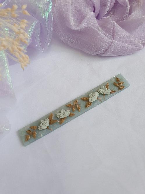 Jade Florets Barrette