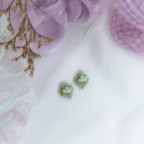 Jade Floret Stud