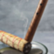 Smudging with sage and sweet grass for purification