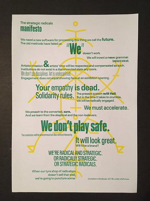 The Strategic Radicals Manifesto Riso Print