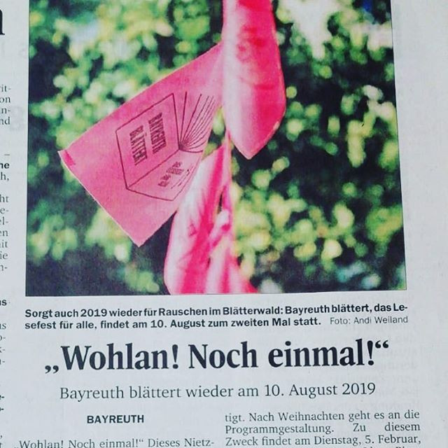 Back to Bayreuth in August! #bayreuthbla