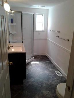 Economic bathroom remodel
