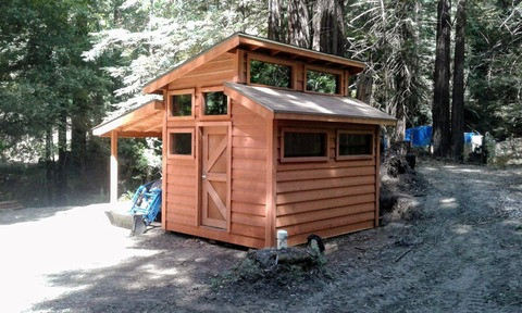 Rustic Redwood Shed