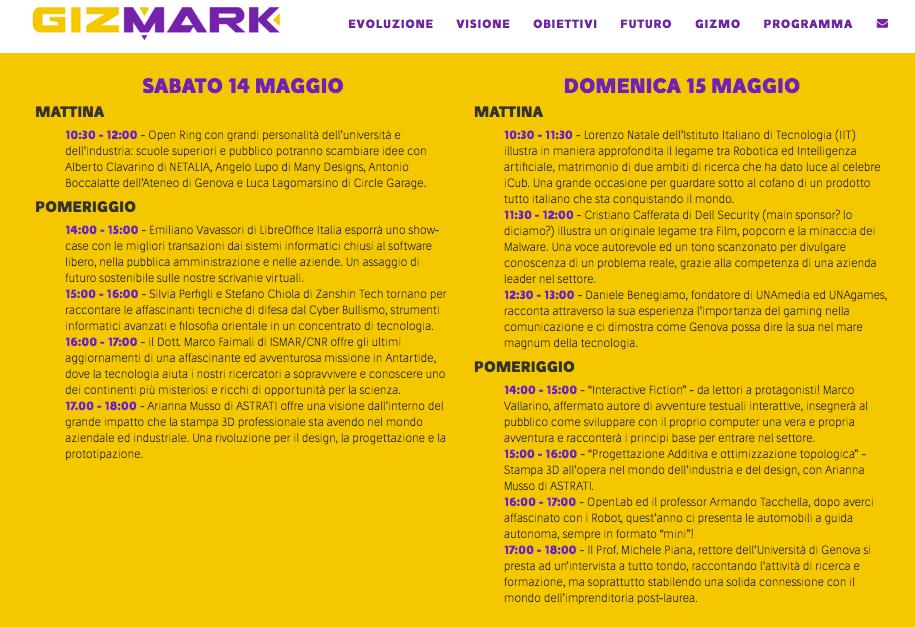 Programma GizMark 2016