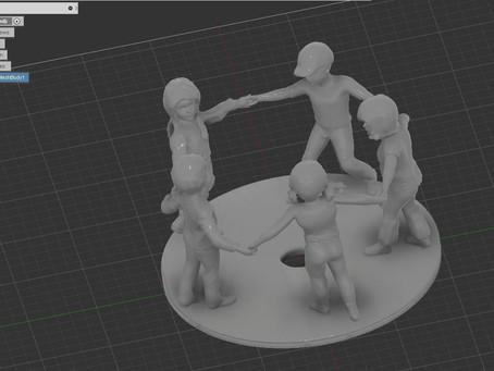 Commemorazioni e ricordi: bambini in 3D.