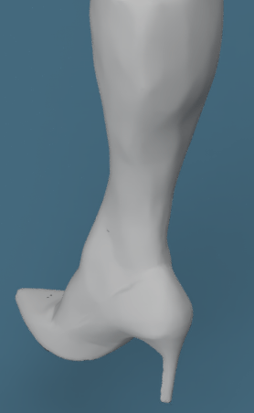 scansione 3d gamba astrati