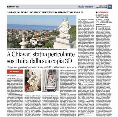 Astrati @ Il Secolo XIX news paper