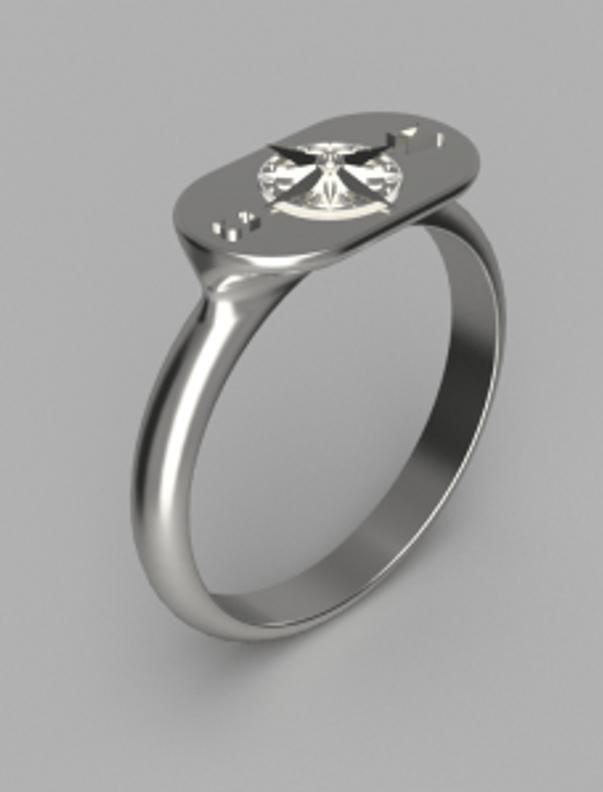 primo render 3d per progetto anello astrati