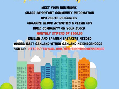 JOB OPPORTUNITIES: Black Cultural Zone Hiring Neighborhood Messengers