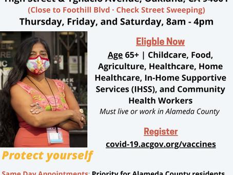 Alameda County Fremont High School Vaccination POD
