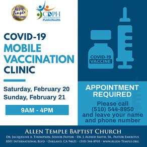 COVID-19 Mobile Vaccination Clinic at Allen Temple Baptist Church