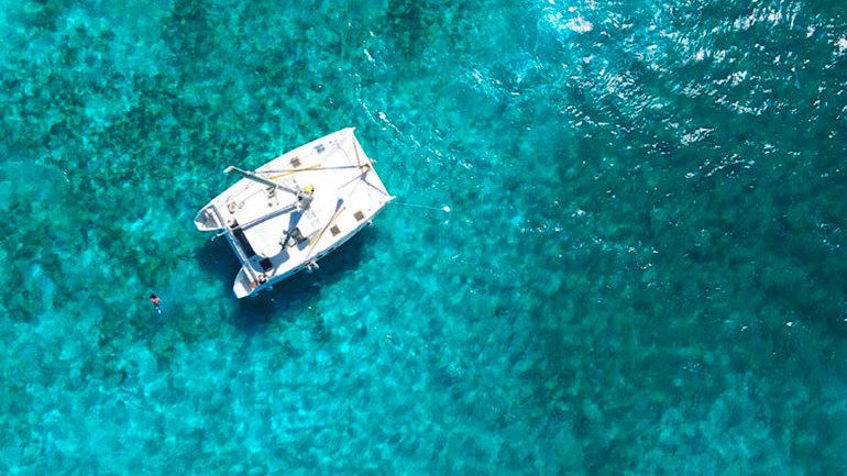 Sail on a catamaran to Isla Mujeres