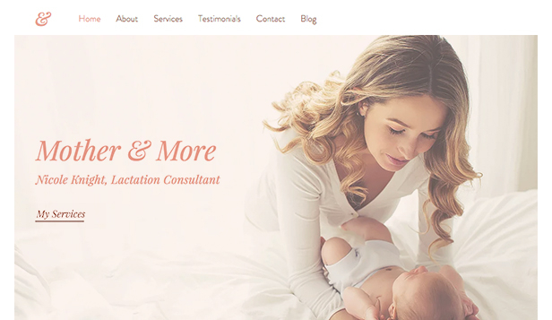 Consulting og coaching website templates – Lactation Consultant