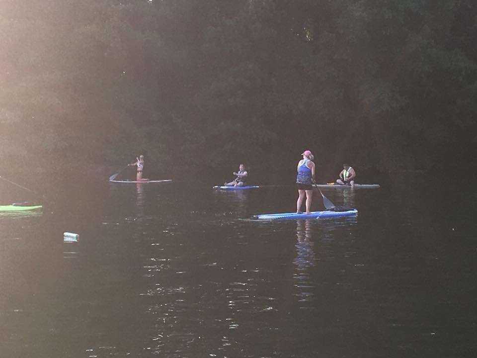 Paddle board class at the fish hatchery!