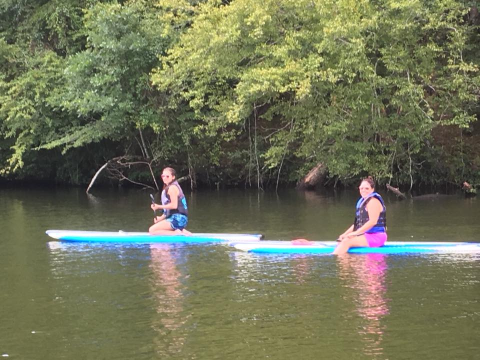 Paddle board class on the lake!