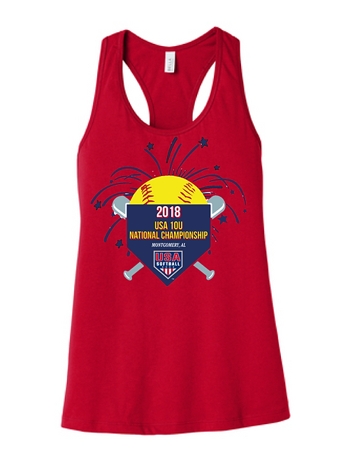 EVENT RACERBACK TANK (HEATHER RED)