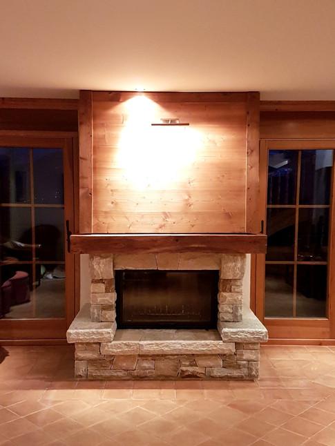 Mise aux normes cheminée manteau bois
