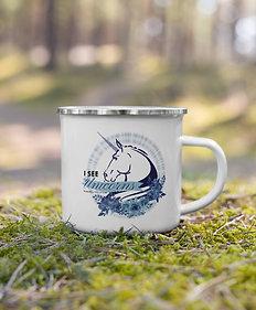 Forgotten Unicorn Enamel Mug