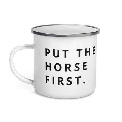 Horse First Enamel Mug