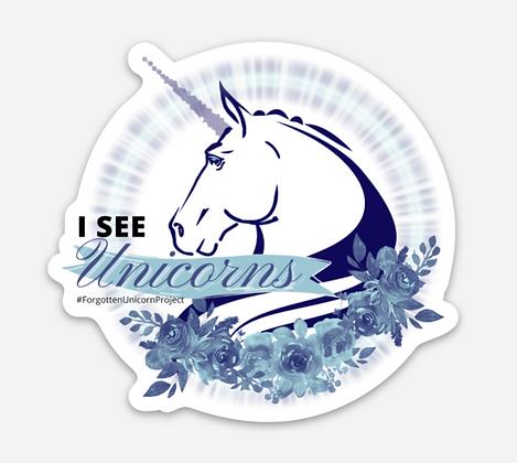 I See Unicorns Sticker