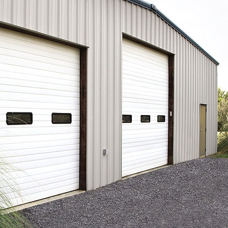 non insulated sectional steel commercial doors