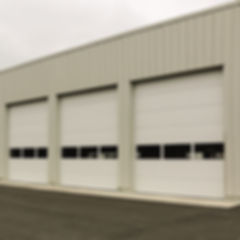 insulated sectional steel commercial doors