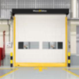 wayne dalton flexible bottom interior high speed fabric doors
